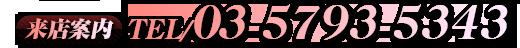 来店案内TEL/03-5793-5343